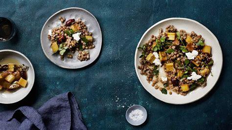 Rhubarb and lentil salad   Salad recipes   SBS Food