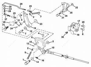Johnson 2005 40 - J40plsoc  Throttle Linkage
