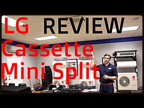 review lg ceiling cassette ductless mini split youtube