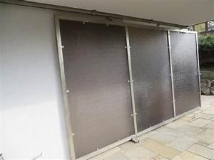 sichtschutz schiebe element aus edelstahl in westerstetten With französischer balkon mit trennwand plexiglas garten