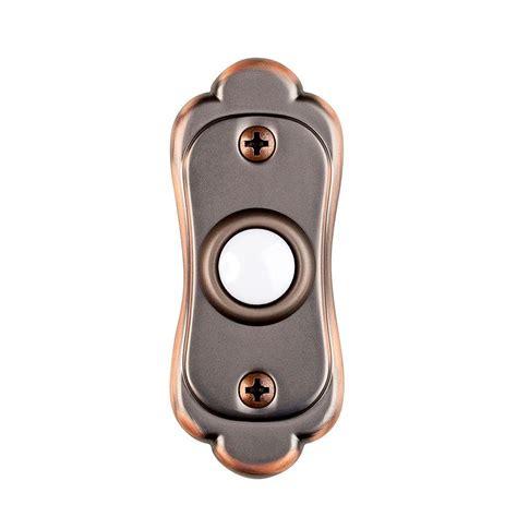door bell button hton bay wired lighted door bell push button