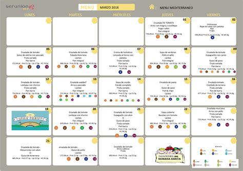 menu comedor men 218 comedor escolar marzo colegio el ope