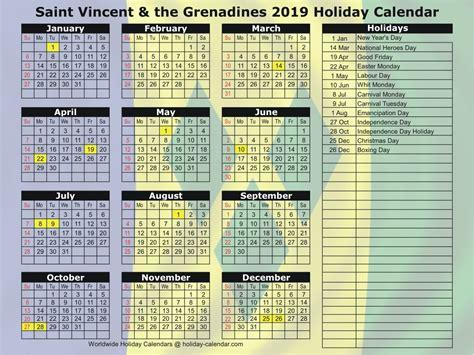 saint vincent   grenadines   holiday calendar