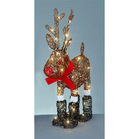 premier decorations standing cute reindeer   white
