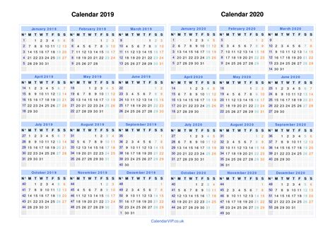 calendar years calendar templates uk