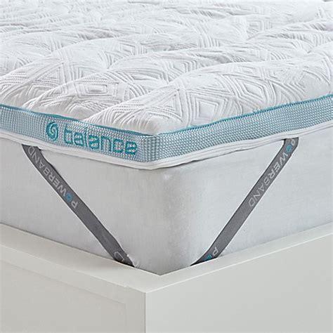 bed bath and beyond mattress topper bedgear 174 balance boost 174 2 inch mattress topper in white