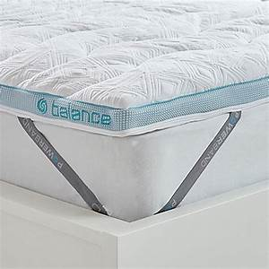 bedgearr balance boostr 2 inch mattress topper in white With bed bath and beyond firm mattress topper