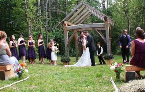 hampshire country wedding arbor timberhomes vermont