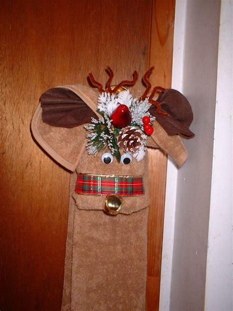 holiday reindeer towel christmas towels towel crafts