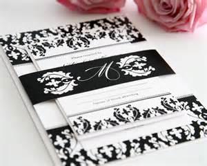 thank yous on wedding programs black and white damask wedding invitations wedding