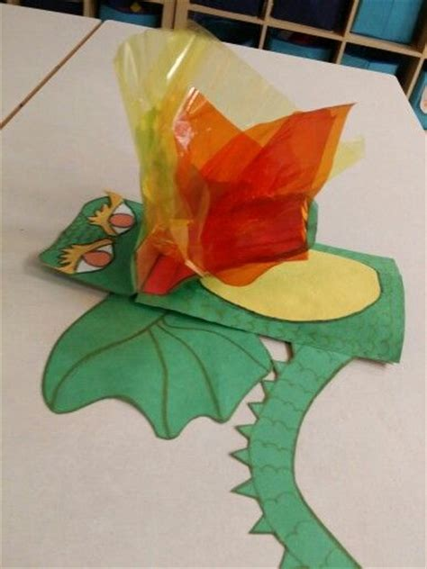 dragon paper bag puppet side view paper bag puppets