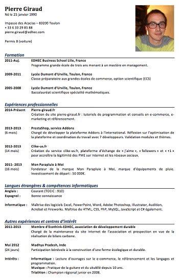 Exemple De Cv Word 2015 by Exemple De Cv 2015