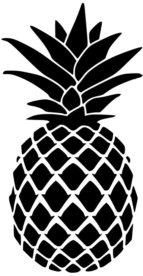 pineapple outline vector pineapple stencil for doormat lydi out loud