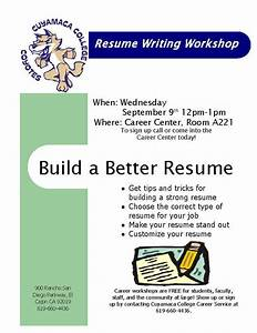 Resume writing workshop how write best free home for Resume writing class