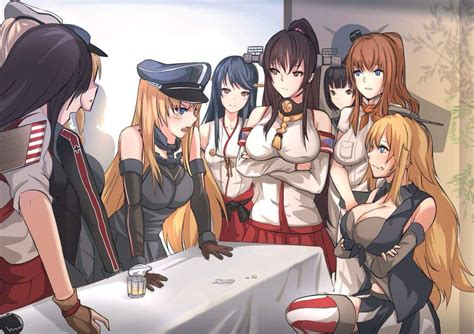 kancolle version  antiqq merkel  trump  summit