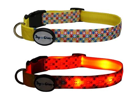 Lighted Collar by E Glow Dots Led Lighted Collar Medium