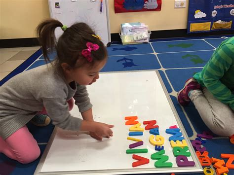 the preschool exploring names in preschool more than the act of writing 683