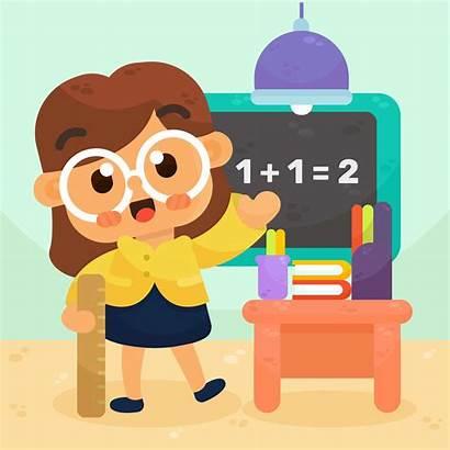 Math Teacher Vector Cartoon Clipart Vectors Background