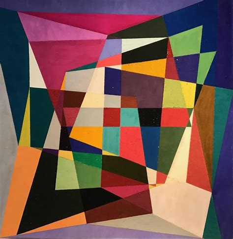 Abstract Shapes Painting by Douglas Herbert Courtenay Auburn Geometric Abstract