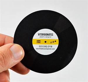 Unique business cards that will boost your creativity for Vinyl record business cards