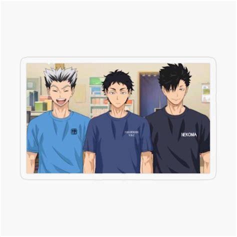 haikyuu bokuto koutarou akaashi keiji and kuroo tetsuro