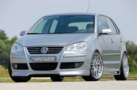 rieger vw polo 9n front spoiler facelift audi tuning