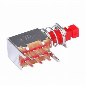 10x Push Button Switch Right Angle Pcb Dpdt Double Pole