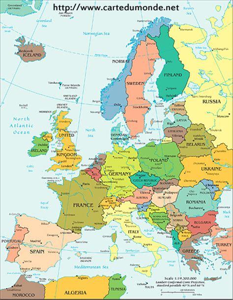 Carte Politique Du Monde à Imprimer by Carte Europe Politique Carte Du Monde