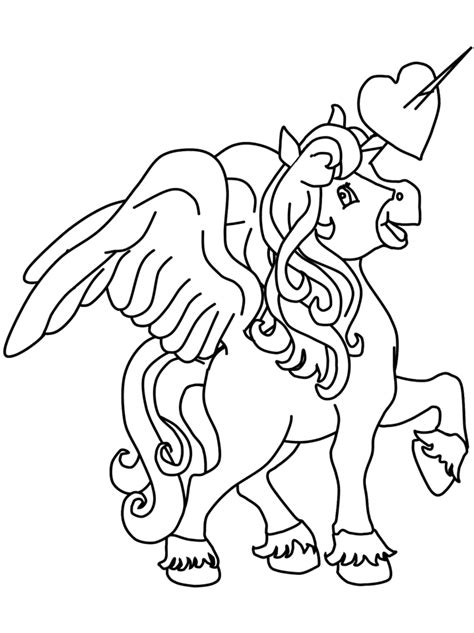 unicorn  heart  horn coloring page  printable coloring pages  kids