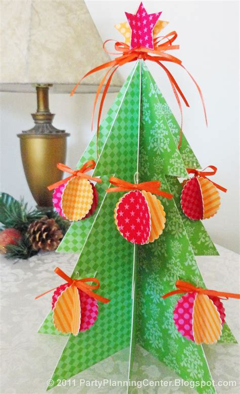 party planning center free printable paper christmas tree and ornaments