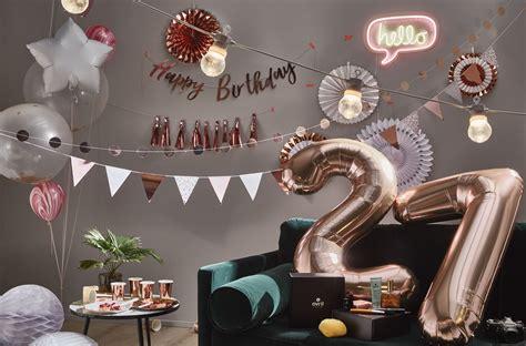 decoration anniversaire rose gold ballons chiffres