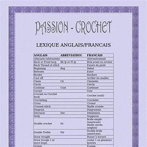 Lexique Anglais  Fran U00e7ais Des Termes De Crochet