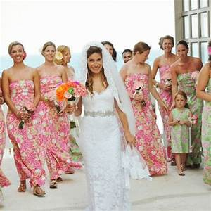 picture of beautiful bridesmaids dresses for beach weddings With print bridesmaid dresses for beach wedding