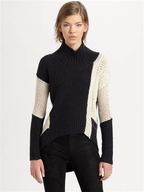 Lyst Helmut Lang Helmut Colorblock Sweater In Black