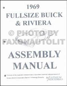 1969 Buick Repair Shop Manual Original Gs  Skylark  Riviera  Lesabre