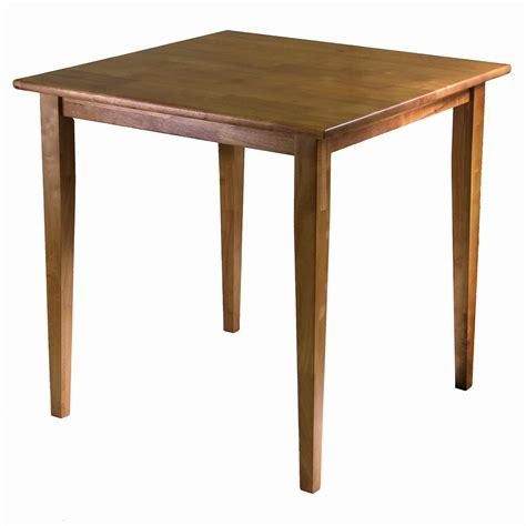 square dining tables winsome wood groveland square dining table with shaker 2440
