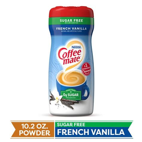 This perennial favorite blends rich creamer with just the right amount of bright vanilla notes for a taste that's simply beyond compare. COFFEE MATE Sugar Free French Vanilla Powder Coffee Creamer 10.2 Oz. Canister | Non-dairy ...