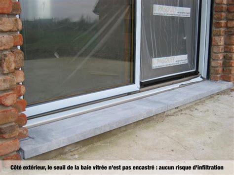 carrelage seuil de porte exterieur 0 baie vitr233e avec seuil int233gr233 187 baie vitr233e