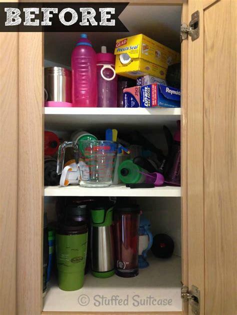 Corner Kitchen Cabinet Organization Ideas by Organized Kitchen Cabinet Spices Stuffed Suitcase
