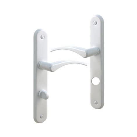 poign 233 e de porte int 233 rieure en aluminium laqu 233 blanc sur plaque conda et d 233 conda entraxe 195 mm