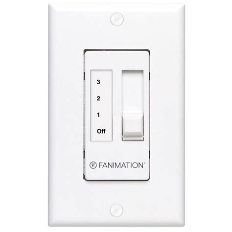 lowes ceiling fan wall switch shop fanimation white wall mount ceiling fan remote