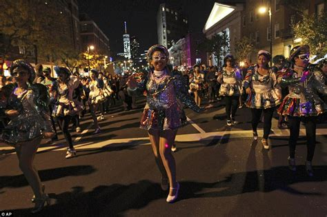 Greenwich Village Halloween Parade 2015 by Parties And Parades Pictured Across America As Revellers