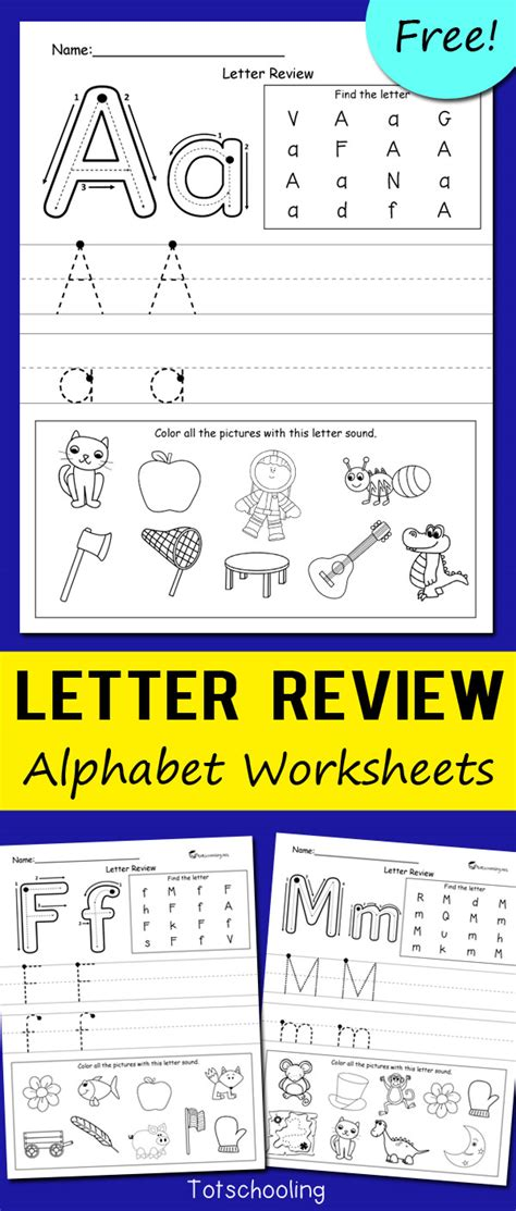 letter review alphabet worksheets totschooling toddler 822 | Letter Review Alphabet Worksheets