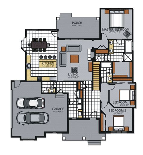 Custom Ranch Floor Plans by Custom Family Ranch