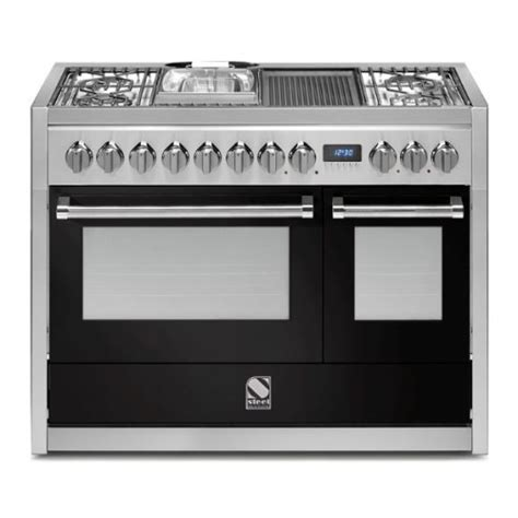piano cuisine electrique piano de cuisson steel genesi 120 cm 2 fours g12sf 6t