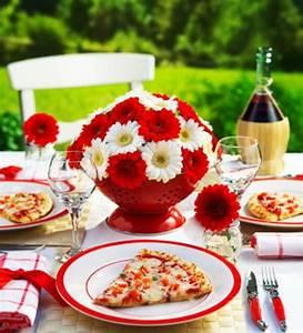 Tischdeko Rot Weiß : sommerliche tischdeko 39 coole ideen ~ Watch28wear.com Haus und Dekorationen