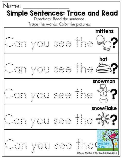 Simple Sentences Trace And Read Great Sight Word Practice! There Are Tons Of No Prep Printable