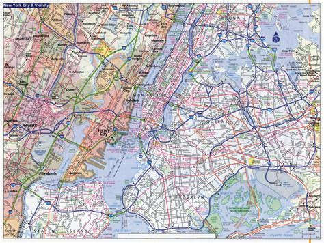 large detailed road map   york city  york city