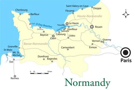 Carte De Plage Normandie by The Top Cities And Beaches In Normandy Normandy