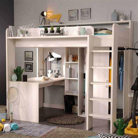 Kinderbett Mit Schreibtisch by Hochbett Rizero In Wei 223 Mit Schreibtisch Pharao24 De